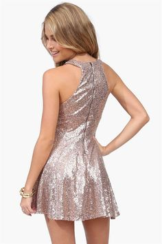 If it were longer, it would be the perfect party proof dress