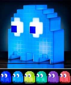 Pac-Man Ghost USB color-cycling LED light.  Switch him to party mode and he will change colors to the beat of your music.