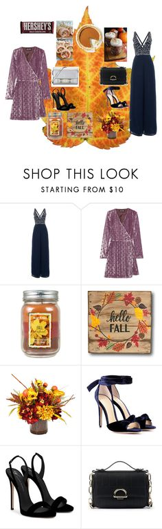 """""""Friendsgiving"""" by citrussaoirse ❤ liked on Polyvore featuring Lace & Beads, House of Holland, Holiday Memories, Frontgate, Hershey's, Alexandre Birman, Giuseppe Zanotti, Sole Society and Proenza Schouler"""