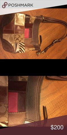 Authentic Coach purse! Barely used! Multi color patchwork! Smoke free pet free home! Coach Bags Shoulder Bags