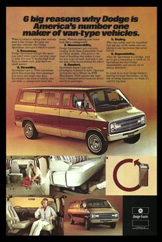 1977 DODGE Sportsman Van Truck AD Photo Illustration Transportation Retro VAN