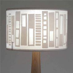 retro block print lampshade by helen rawlinson   notonthehighstreet.com