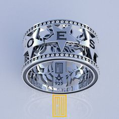 Order of Eastern Star Ring Unique Design for by MuDesignJewelry