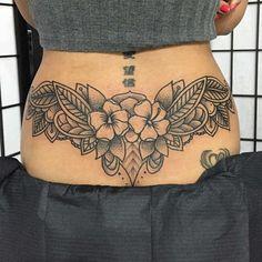Hot Lower Back Tattoos, Tramp Stamp Tattoos (12)