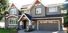 Love these exterior house color combos, with a red door for sure!!