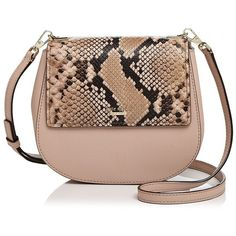 kate spade new york Cameron Street Byrdie Small Snakeskin-Embossed... ($215) ❤ liked on Polyvore featuring bags, handbags, shoulder bags, leather crossbody purse, crossbody purses, kate spade crossbody, kate spade handbag and brown leather crossbody