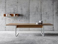 Descarregue o catálogo e solicite preços de mesa de jantar retangular de madeira La punt, design act romegialli ao fabricante Fioroni