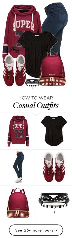 """""""Casual"""" by alice-fortuna on Polyvore featuring Superdry, Hollister Co., adidas and Michael Kors"""