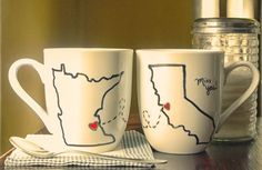 DIY Friendship Mugs- such a cute idea! If only I could draw decently...