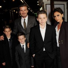 Victoria and David Beckham with their boys