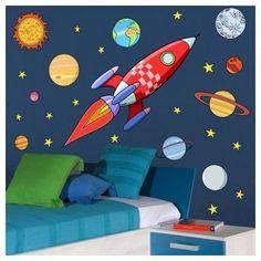 Cohete en el espacio - Vinilos infantiles