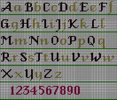 Fancy AlphabetStitch Chart