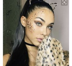 If I were you, I would adore me. ✨ Stunning Madison 🔺🔻🔺🔻🔺🔻 wearing Solotica Hidrocor Mel contact lenses aesthetic aesthetic surgery job job before and after remodelling Cheetah Halloween Costume, Hot Halloween Costumes, Halloween Looks, Halloween Outfits, Leopard Costume, Leopard Halloween Makeup, Madison Bier, Cheetah Makeup, Fox Makeup