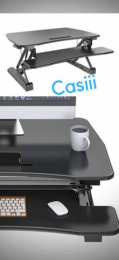 Adjustable Standing Desk and Ergonomic Solutions - Casiii Computer Stand For Desk, Stand Up Desk, Office Ideas For Work, Healthy Spine, Adjustable Desk, Home Desk, High Quality Furniture, Gifts For Him, Workplace