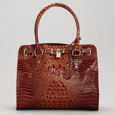Stylish Faux alligator-embossed tote. From New York to Milan, woman love this bag!
