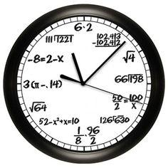 Wall clock for math teachers! :)