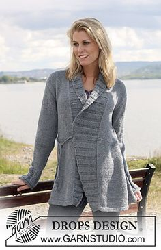 Ravelry: 108-12 Jacket with tie-strings pattern by DROPS design