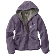 Rugged, stylish, and utterly utilitarian, the Carhartt Women's Purple Sage Sandstone Sierra Jacket is the kind of jacket you wear when you want to get some seri