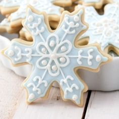 Easy cut-out sugar cookies decorated with royal icing