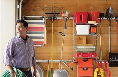 A garage goes from cluttered catch-all to well-ordered work space. Security Technology, Parking Space, Home Organization, Organizing Ideas, Garage Storage, Flooring, Room, Organize, Safety
