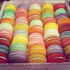 Pretty colourful macaroons