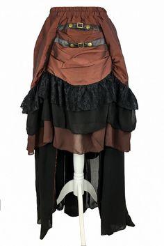Burleska Catriana Steampunk Maxi Skirt - £59.99 : Angel Clothing | Gothic and Steampunk Clothing