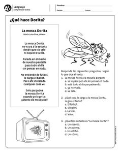 ¿Qué hace Dorita? Spanish Lesson Plans, Spanish Lessons, Teaching Spanish, Speech Language Therapy, Speech And Language, Reading Activities, Therapy Activities, 4th Grade Reading, N21