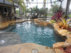 Natural Stone Work #14 | Uni-Scape Waterfalls, Natural Stone Work, Ponds, Swimming Pool and Spa Renovation, Flagstone Patios and Outdoor Kitchens.