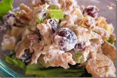 Primal waldorf chicken salad, with greek yogurt instead of mayo to change it up. Not a huge mayo fan, so I really like this recipe change