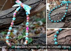 Baby Lock Project - Fabric Beaded Necklace from @Matt Valk Chuah Cottage Mama - {Lindsay Wilkes}
