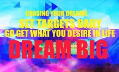 Never loose sight of your dreams #achieveyourgoals #dreambig #motivation