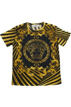 My oldest boy gets to wear these the most. The rest are in uniform. They're so nice with jeans. Versace Medusa T Shirts.