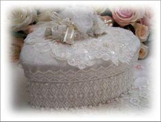 Keepsake memory heart box,lace,cherub, romantic  $59.99  Available at www.bellarosadesigns.com