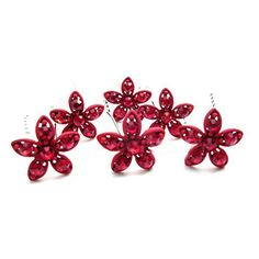 [thousand color brides]The red five flowered bride sends the hairpin (Chinese dress to match plays the part of formal clothes to match decoration) the bridal head ornaments           $0.97