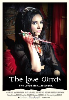 The Love Witch poster horror Anna Biller Samantha Robinson Gian Keys Waddell The Love Witch Movie, Chicas Punk Rock, Samantha Robinson, Dark Romance, The Rocky Horror Picture Show, Horror Movie Posters, Cinema Posters, Horror House, Classic Horror Movies