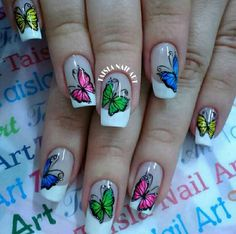 Z Arts, Stylish Nails, Nail Art, Stickers, Classy Nails, Butterflies, Fingernail Designs, Lilac, Make Up