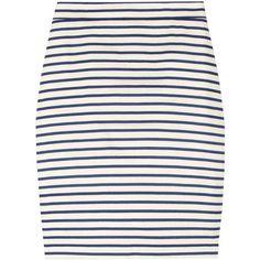 J.Crew Dapper striped linen-blend pencil skirt ($120) ❤ liked on Polyvore