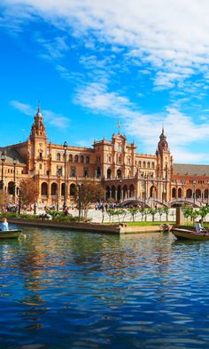 The magnificent Plaza de Espana, Seville, Spain - it was the heart of the 1929 Expo and is incredibly beautiful. A must when in Seville!
