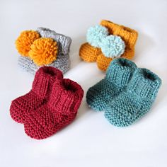 baby booties knitted handmade wool choose your color by nanoutriko