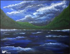The Wilde Lake; size (l/w): cm; Waves, Mountains, Studio, Nature, Painting, Outdoor, Pictures, Outdoors, Painting Art
