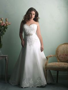 Dress Post of the Day courtesy of @allurebridals. Dress details on our Facebook Page, http:/www.facebook.com/prettypearbride #weddingdress‬ ‪#‎plussize‬ ‪#‎curvybrides‬ ‪#‎bride‬ ‪#‎prettypearbride‬
