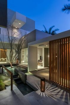Modern House Design & Architecture : Contemporary three level home on Amwaj Island Bahrain Contemporary Decor, Contemporary Architecture, Interior Architecture, Contemporary Houses, Contemporary Building, Contemporary Apartment, Contemporary Wallpaper, Contemporary Chandelier, Landscape Architecture