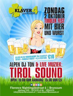 oktoberfest met tirol sound bij klaver 4 in Brunssum