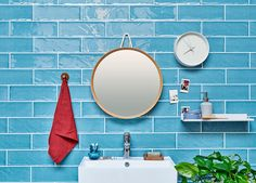 Looking for a fresh and youthful look to your bathroom? Here's one way to do it with Oras Safira XL sized washbasin faucet.