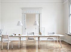 White and wood desk essentials - via Coco Lapine Design