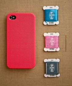 Cross stitch your own iPhone case. WOW.