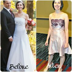 Wedding dress re-fashion. Now no one can tell you that you'll never wear it again!