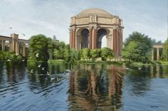 #PalaceofFineArts in San Francisco - #painting oil on canvas 24 x 36in