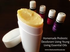 Homemade probiotic deodorant using Young Living essential oils