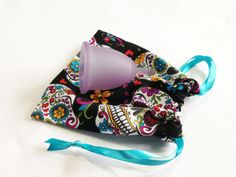 Menstrual Cup Cotton Carry Bag on Etsy,